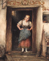 A young Maid in a Doorway - Otto Piltz