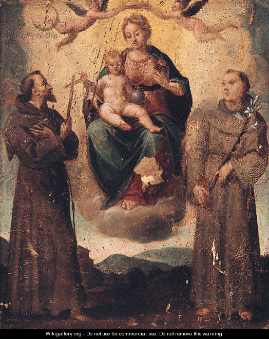The Madonna and Child with Saints Francis and Anthony of Padua - North-Italian School