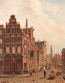 View of the city of Delft with the Oude Kerk - Oene Romkes De Jongh