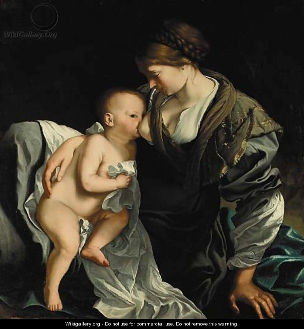 The Madonna and Child - Orazio Gentileschi