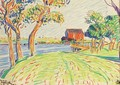 Old Mill, Sheepshead Bay - Oscar Bluemner