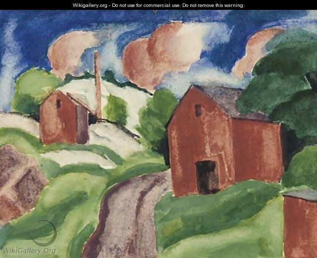 Red Barn - Oscar Bluemner