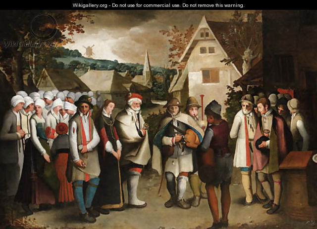 A wedding procession through a town nicolas baullery wikigallery click here to download image junglespirit Images