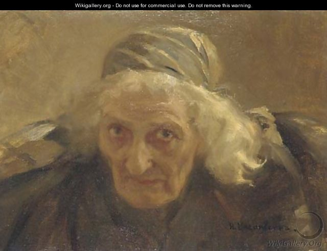 Portrait of an old woman - Nikolaj Alekseevich Kasatkin