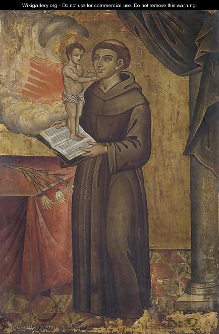 Saint Anthony of Padua with a vision of the Christ Child - North-Italian School