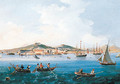 A view of Naples from the Sea looking towards the Castel dell'Ovo - Neapolitan School