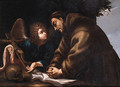 St Francis of Assisi in Meditation - Neapolitan School