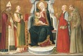 The Madonna and Child with a Bishop Saint, Saints Catherine of Alexandria, Margaret of Antioch and Francis of Assisi - Nero di Bicci