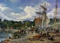 The Pier Head, Aberdour, Firth of Forth - Samuel Bough