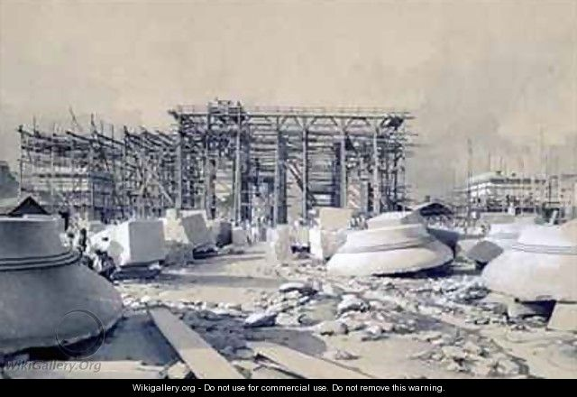 Construction of the Euston Arch 2 - John Cooke Bourne