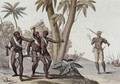 Freed slaves hunting down escaped slaves in Surinam, Guiana - (after) Bramati, G.