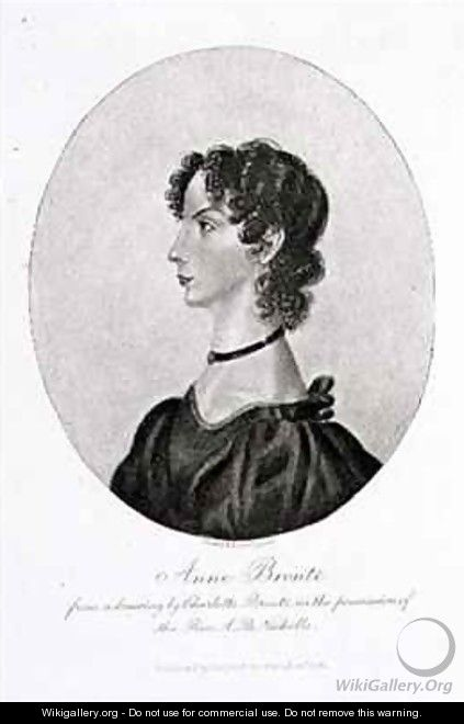 Portrait of Anne Bronte (1820-49) from a drawing in the possession of the Rev. A. B. Nicholls - (after) Bronte, Charlotte
