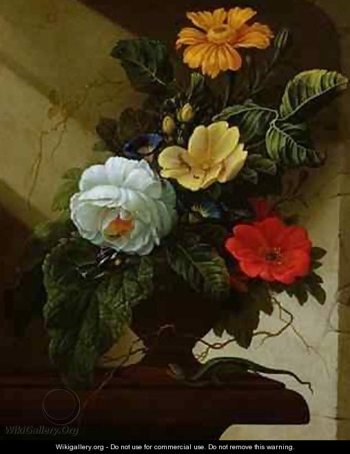 Still Life with flowers - Elias van den Broeck