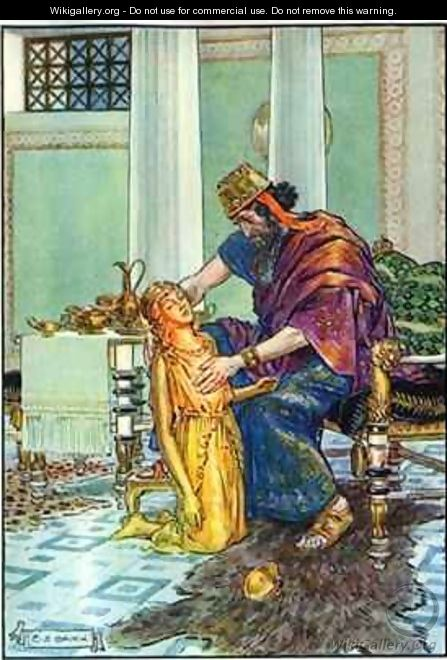 King Midas and his Daughter - Charles Edmund Brock
