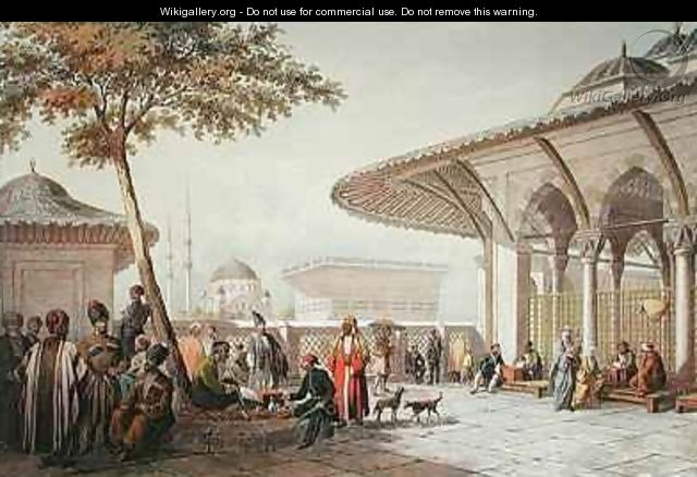 Interior of the Courtyard of the Top-Hani Mosque - Jean Brindesi