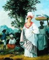 West Indian Creole Woman with her Black Servant - Agostino Brunias