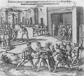 Capture, trial and execution of Diego de Almagro by order of Francisco Pizarro - Theodore de Bry
