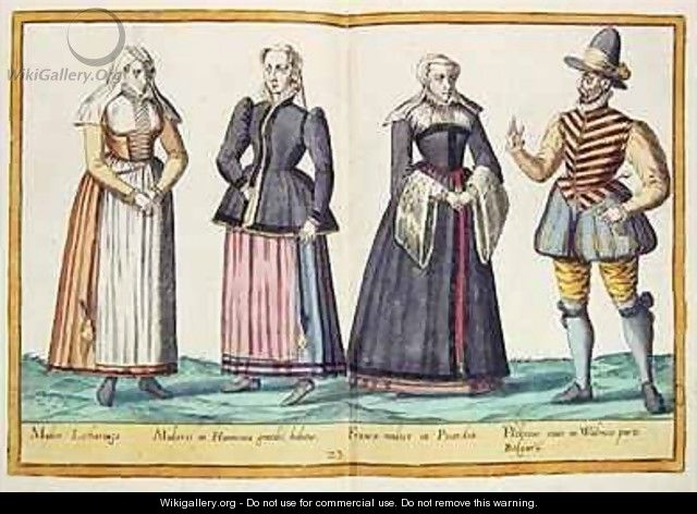 Sixteenth century costumes from