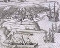 Battle in Jamaica between Christopher Columbus (1451-1506) and Francisco Poraz - (after) Bry, Theodore de