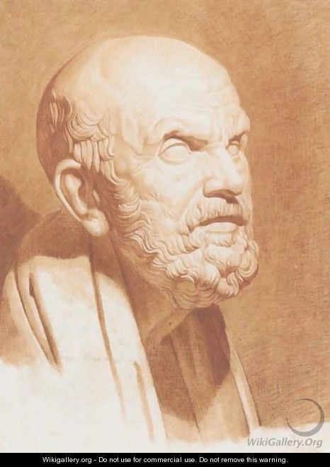 Bust Of Socrates - Victor Maximilian Potain