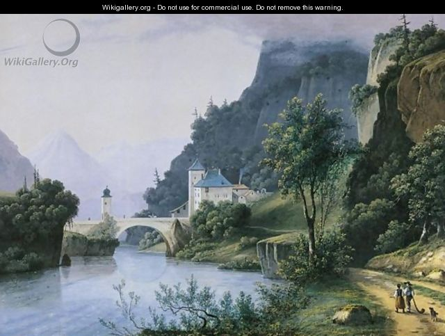 View Of The Pont De Saint Maurice, Canton Vaud, Switzerland - Henri Knip