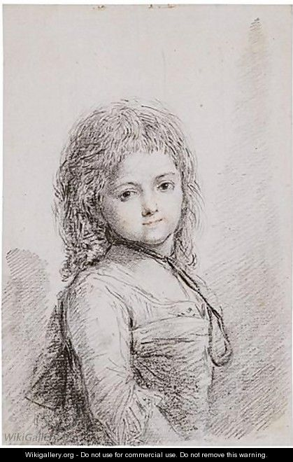 Portrait Of A Child - (after) Augustin De Saint-Aubin