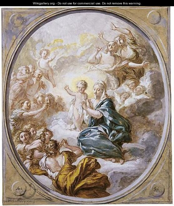 The Madonna In Glory With The Infant Christ - Jacques-Antoine Beaufort