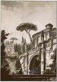 View Of A Roman Villa, Possibly The Villa D'Este - Jean Jacques Francois Le Barbier