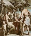 Adam And Eve With Cain And Abel - Giovanni David