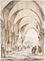 View Through The Portico Of The Doge's Palace, Venice - Francesco Guardi