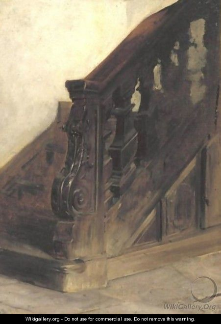Staircase - Charles Edouard Edmond Delort