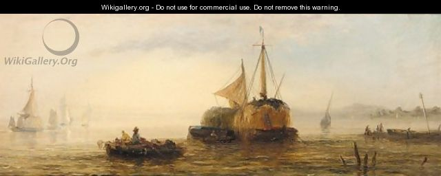 Hay barge - William Adolphus Knell