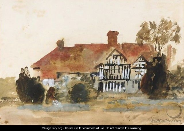 Study Of A Country House - Hercules Brabazon Brabazon