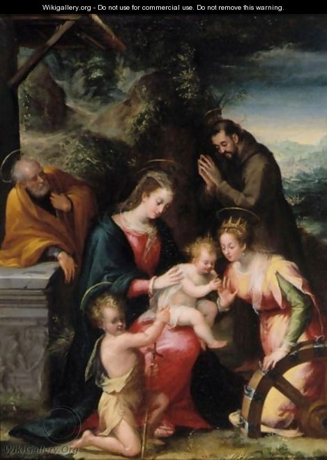The Mystic Marriage Of Saint Catherine With Saints Francis, Joseph And The Infant Saint John The Baptist - Lavinia Fontana