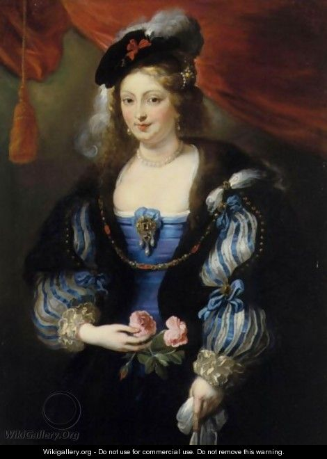 Portrait Of A Lady, Said To Be Helena Fourment - (after) Sir Peter Paul Rubens
