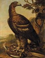 A Golden Eagle With A Pheasant In Its Talons, A Snake Coiled Around A Tree Nearby - (after) Ferdinand Phillip De Hamilton