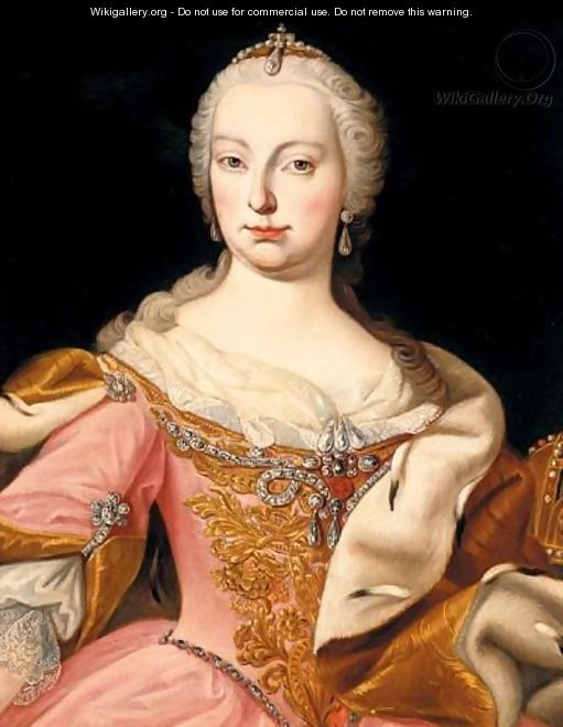 Portrait Of Maria Theresa Of Austria (1717 - 1780) - (after) Martin II Mytens Or Meytens