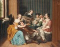 An Interior With A Merry Company - Jan Jozef, the Younger Horemans