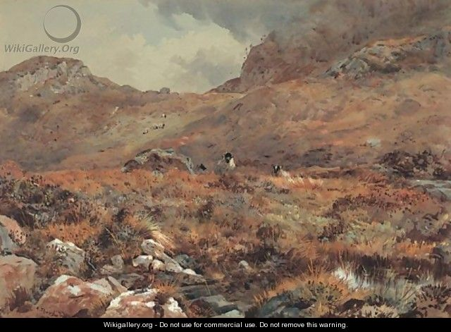 Sheep Resting In A Grouse Moor - Archibald Thorburn