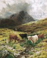 Cattle Watering In The Highlands - Louis Bosworth Hurt