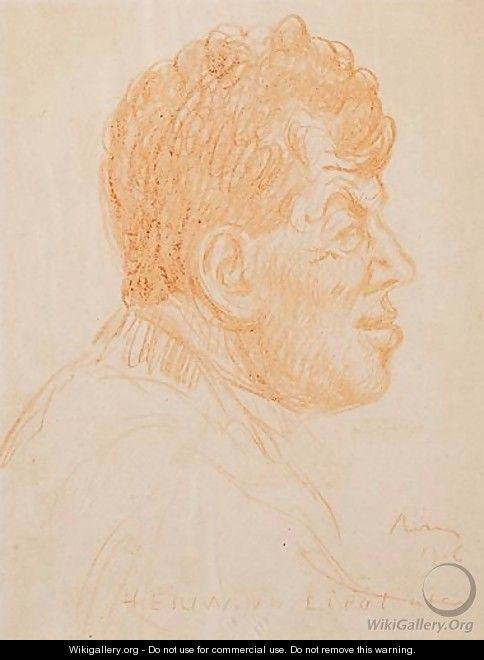 Portrait Of The Artist Hermann Lipot (1884-1972) - Jozsef Rippl-Ronai