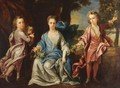 Portrait Of The Children Of The Dashwood Family - Johann Closterman