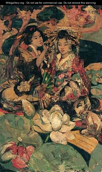 The Lotus Flower - Edward Atkinson Hornel