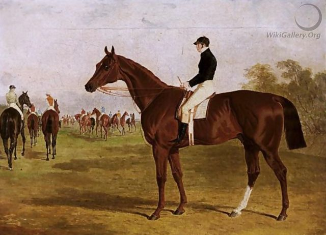 Mundig, A Chestnut Colt With William Scott Up, At The Start For The 1835 Derby - John Frederick Herring Snr