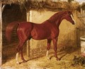 Langar, A Chestnut Racehorse Outside A Stable - John Frederick Herring Snr
