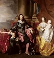 Charles I And Henrietta Maria With Their Two Eldest Children, Prince Charles And Princess Mary - (after) Dyck, Sir Anthony van