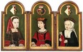 The Stoneleigh Triptych Portrait Of The Three Children Of The King Of Spain - English School