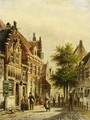 A Townscene In Summer - Johannes Franciscus Spohler