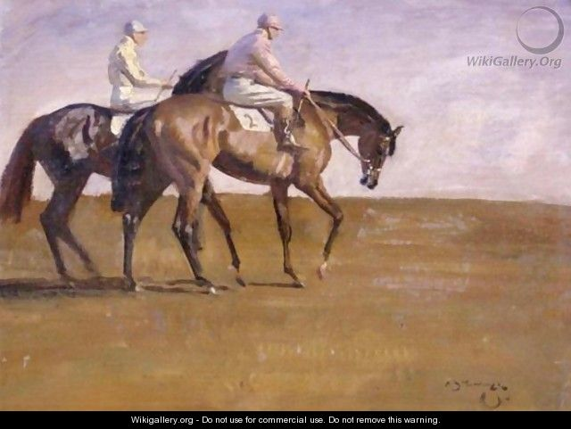 Going To The Post - Sir Alfred James Munnings