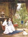 In The Conservatory - Mihaly Munkacsy